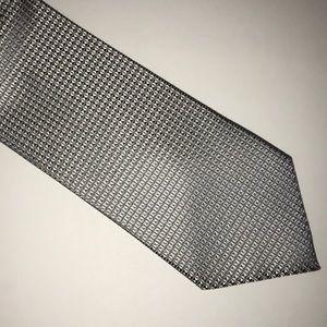 Adolfo Gray 100% Silk Handmade Diamond Tie XL